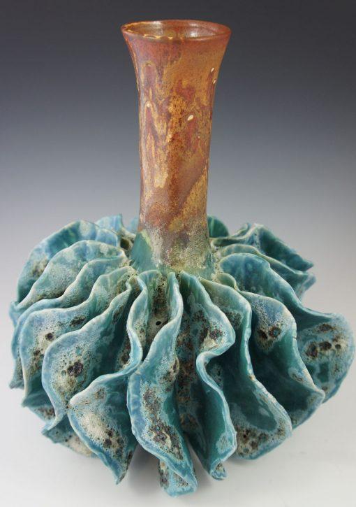Sea Urchin Vase by Lee Oululani Plevney. Ocean-inspired ceramic art handmade on Maui, Hawaii.