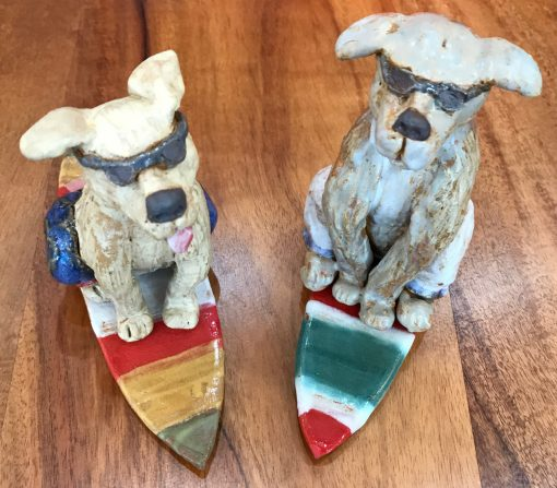 Assorted Surf Dogs by Robin Fahey Cameron - Examples - RFCSD75