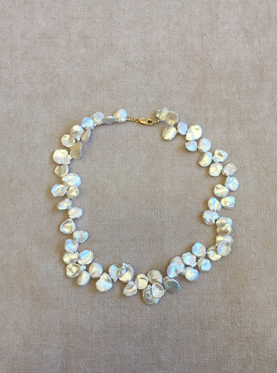 White Keshi Pearl Necklace by Christi Cafferata