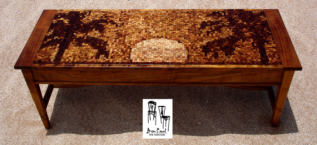 Molokai Koa Coffee Table by Brian Kawal