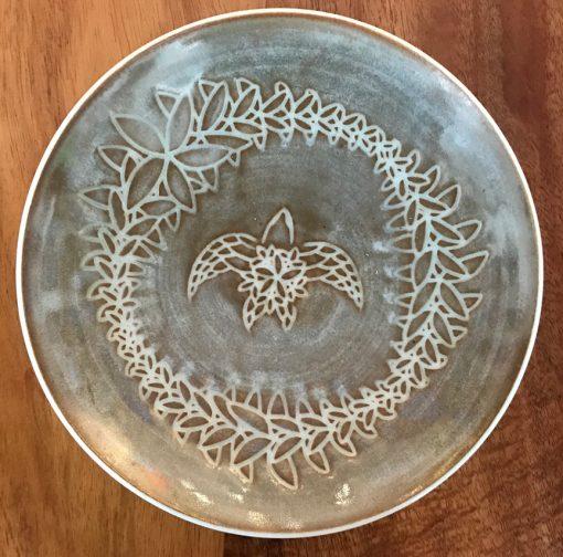 Sgraffito Bowl by Curt Stevens - Taupe Honu Example - CURT85B