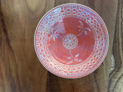 6 in Coral Sgraffito Bowl by Curt Stevens