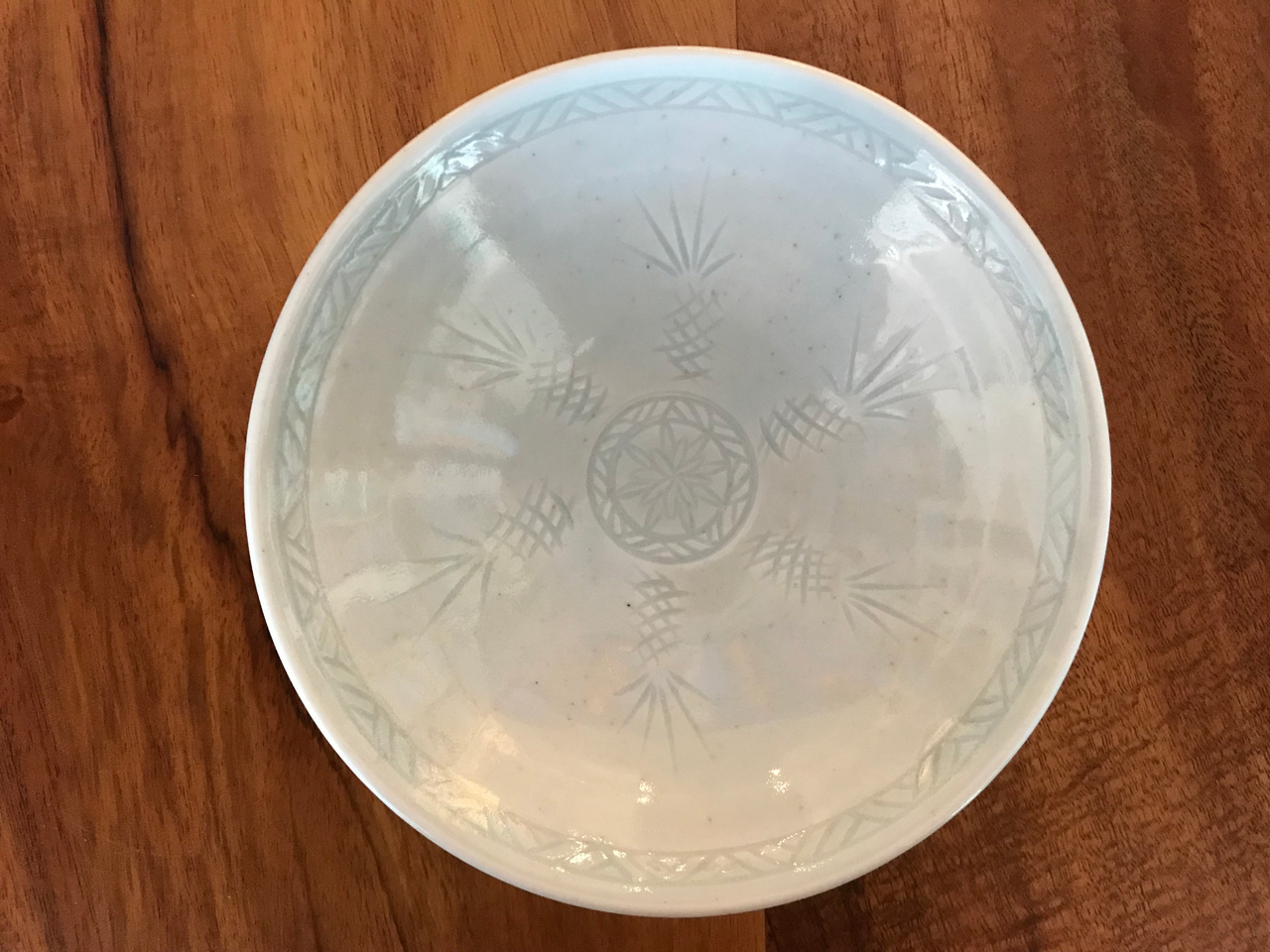 6 in White Sgraffito Bowl by Curt Stevens