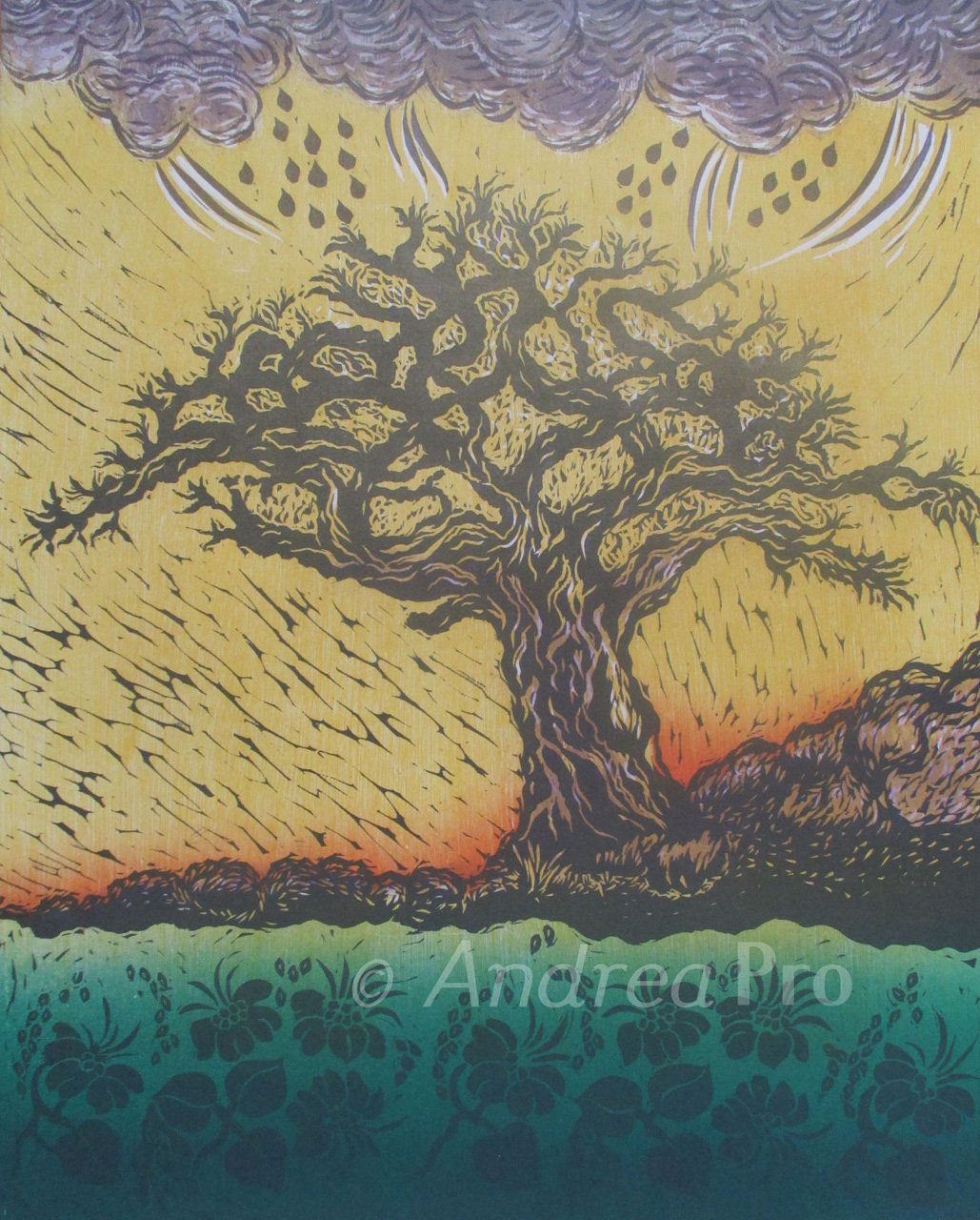 Calling the Rain by Andrea Pro print of tree in rain