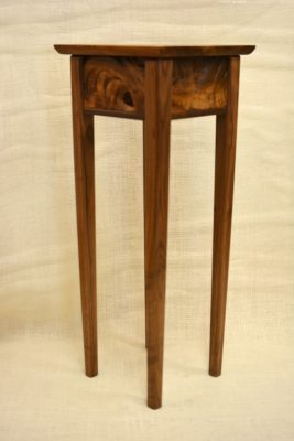 Monkeypod and Walnut Pedestal Table by Brian Kawal