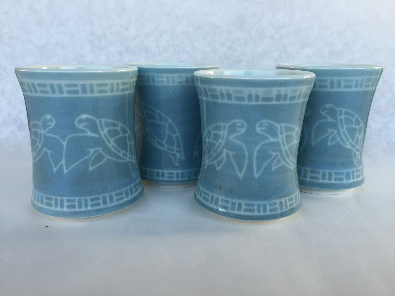 Blue Honu Cups by Curt Stevens