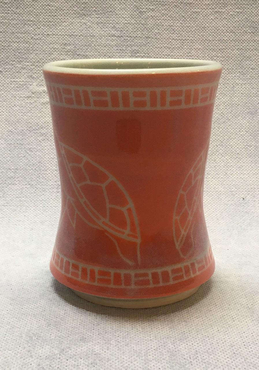Coral Honu Cup by Curt Stevens