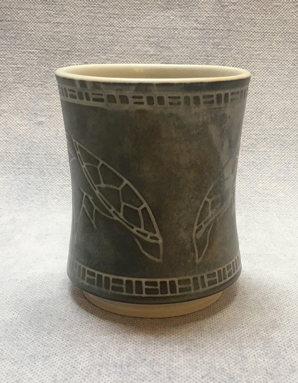 Green Honu Cup by Curt Stevens
