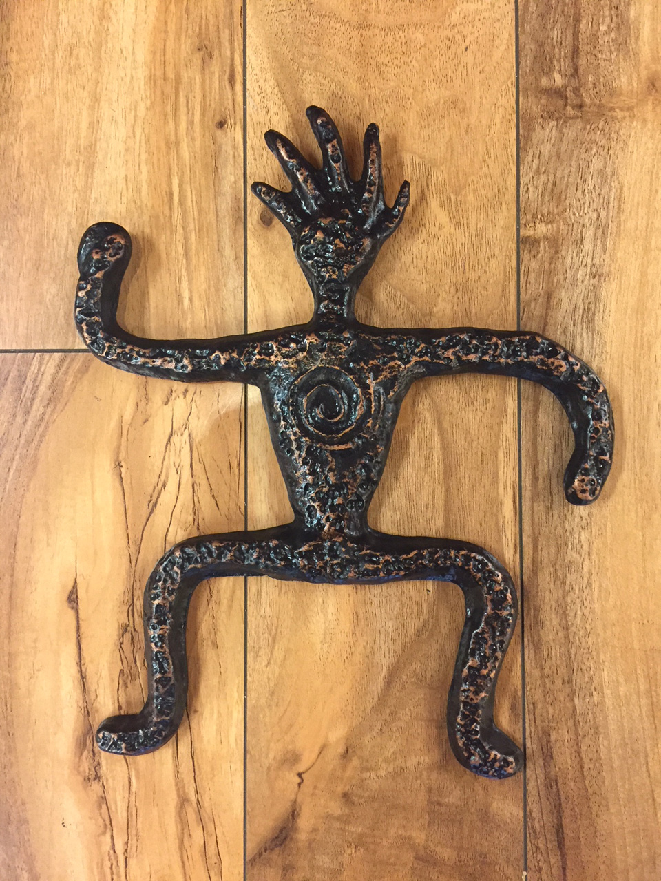 Crestman by Charlie Corda wall hanging sculpture