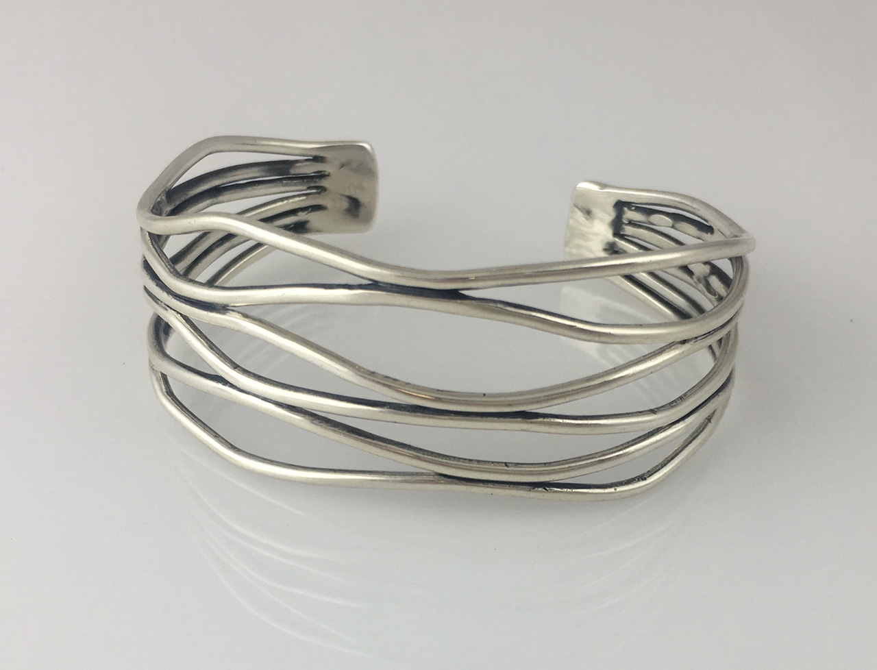 Silver 6-Wire Bracelet by Dian Anderson