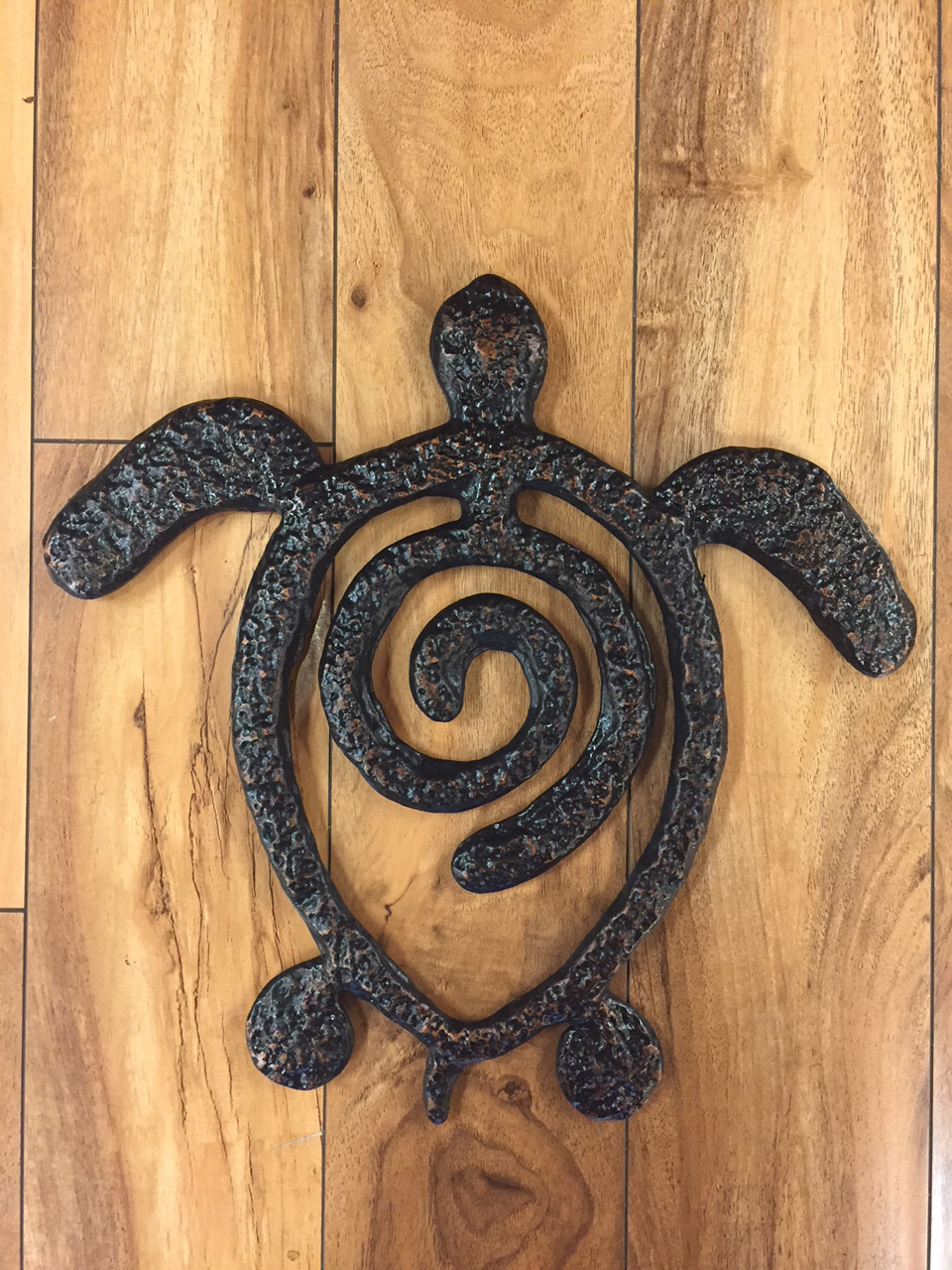 Honu Spiral by Charlie Corda wall hanging sculpture