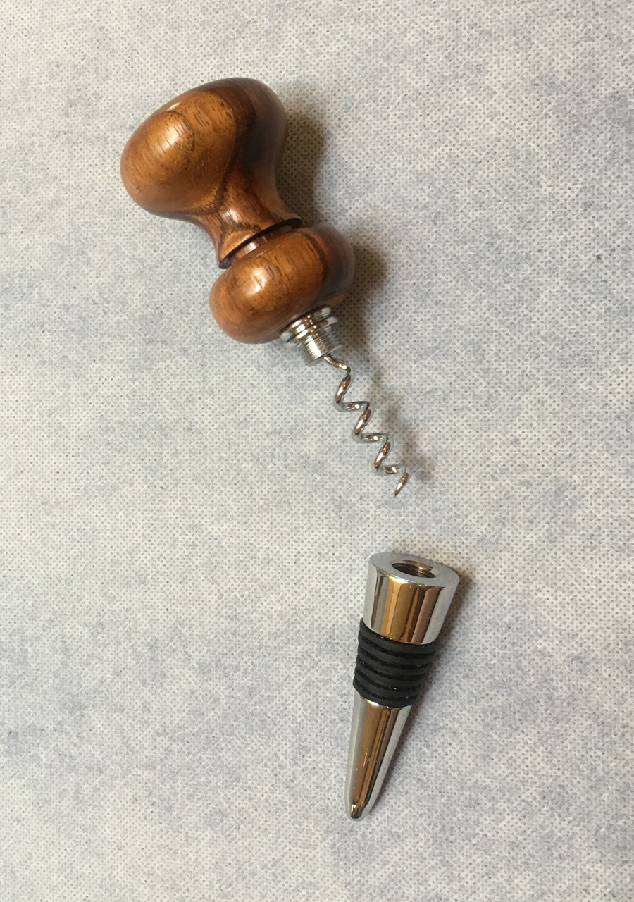 Winestopper with Built-in Corkscrew