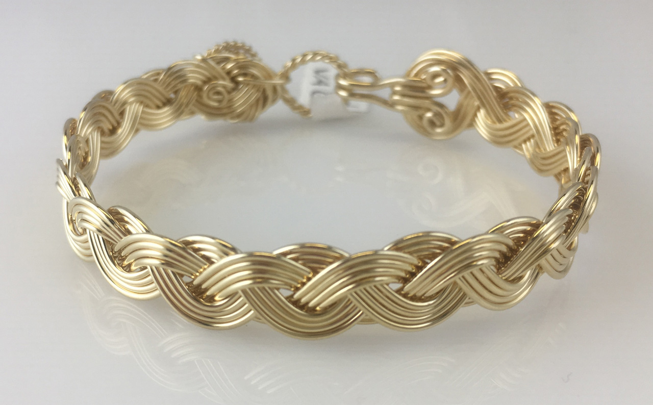 Wave Classic Weave Bracelet in gold fill by Varsha Titus