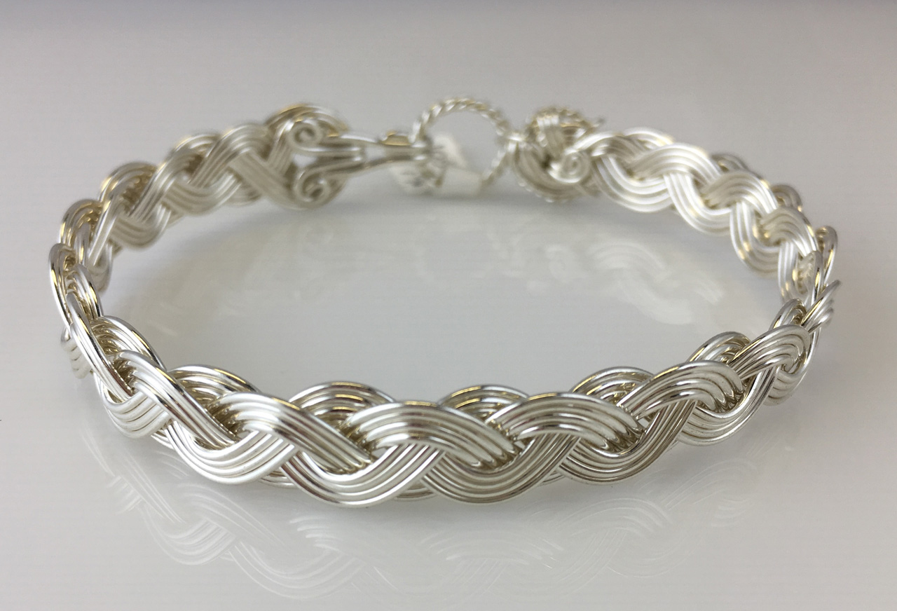 Wave Classic Weave Bracelet in sterling silver by Varsha Titus