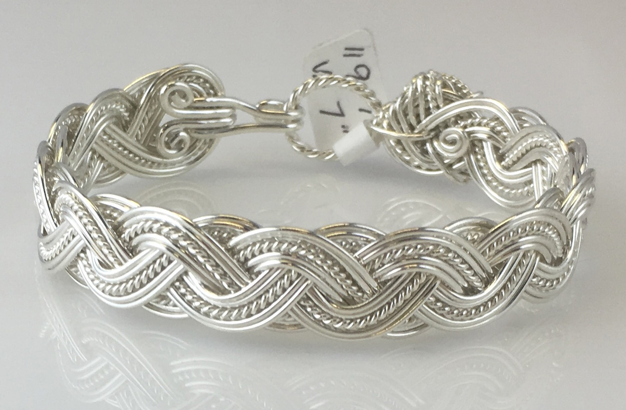 Wave Tapestry Weave Bracelet in sterling silver by Varsha Titus