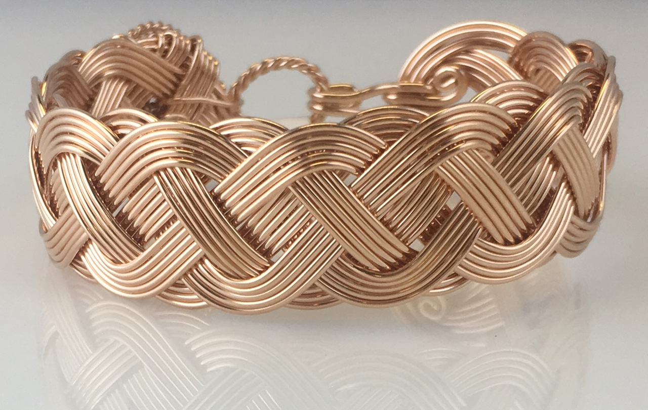 Celtic Classic Weave Bracelet in rose gold fill by Varsha Titus
