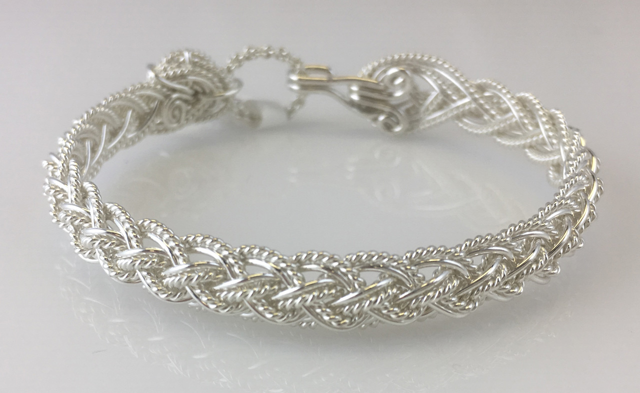 Lace Weave Bracelet in sterling silver by Varsha Titus