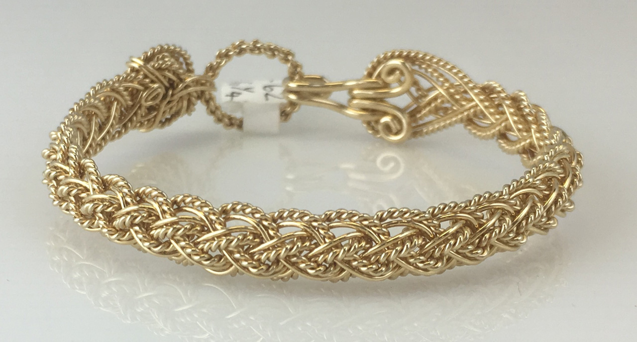 Lace Weave Bracelet in gold fill by Varsha Titus
