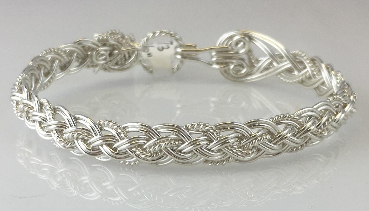 Halfround Rope Weave Bracelet in sterling silver by Varsha Titus