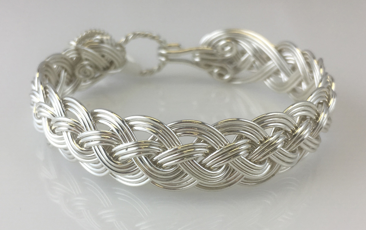 Halfround Classic Weave Bracelet in sterling silver by Varsha Titus