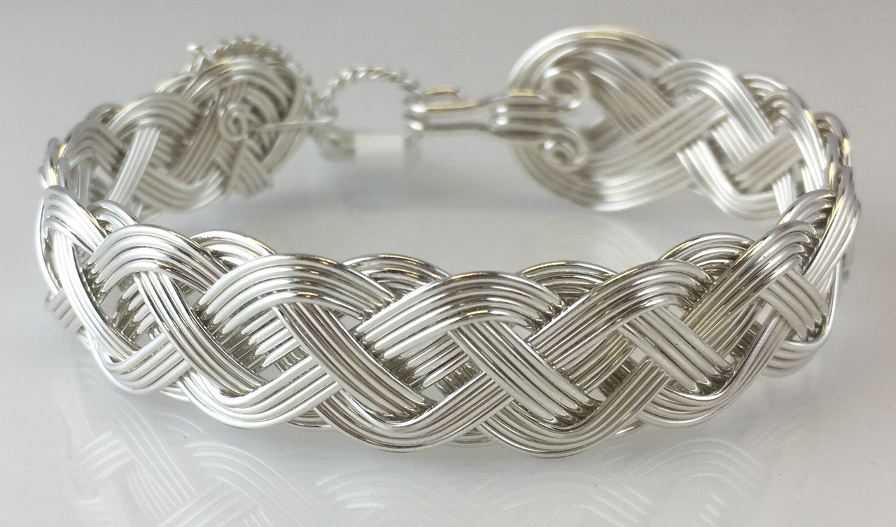 Celtic Classic Weave Bracelet in sterling silver by Varsha Titus