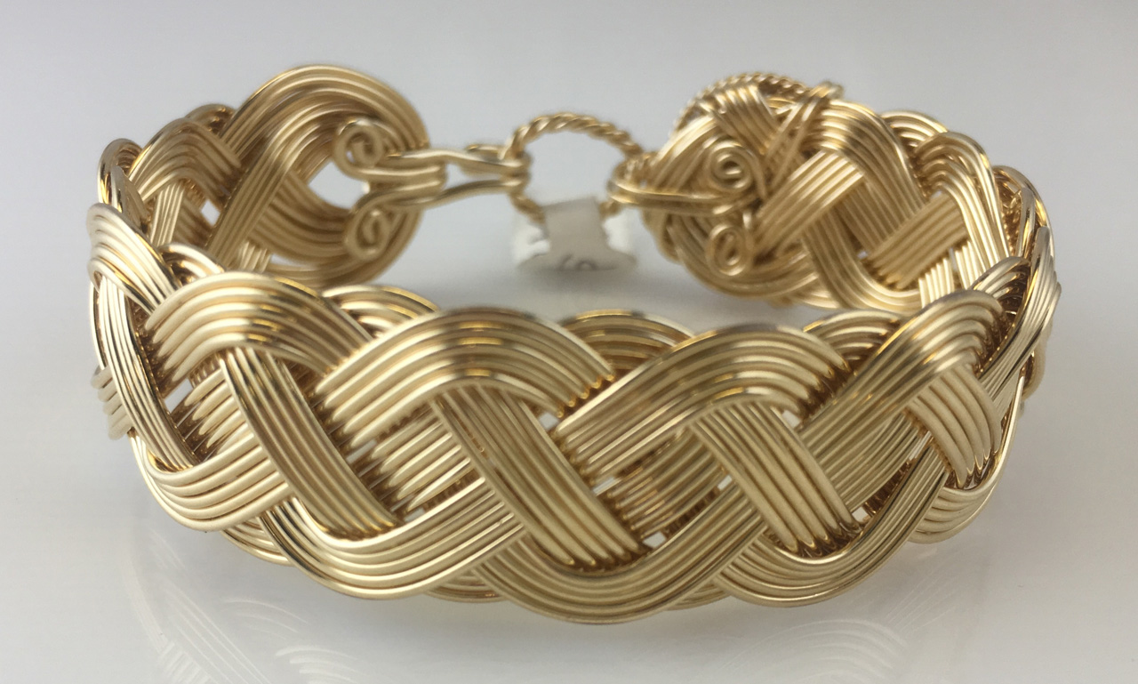 Celtic Classic Weave Bracelet in gold fill by Varsha Titus