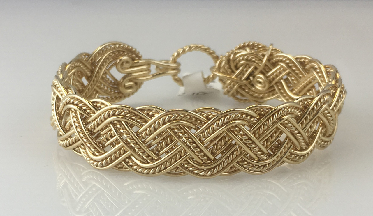Celtic Tapestry Weave Bracelet in gold fill by Varsha Titus