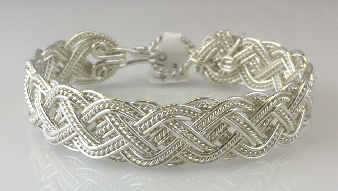 Celtic Tapestry Weave Bracelet in sterling silver by Varsha Titus