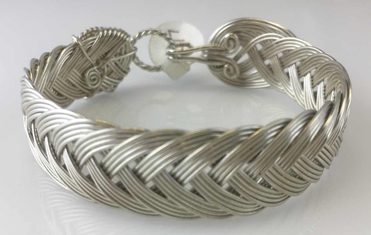 French Classic Weave Bracelet in sterling silver by Varsha Titus