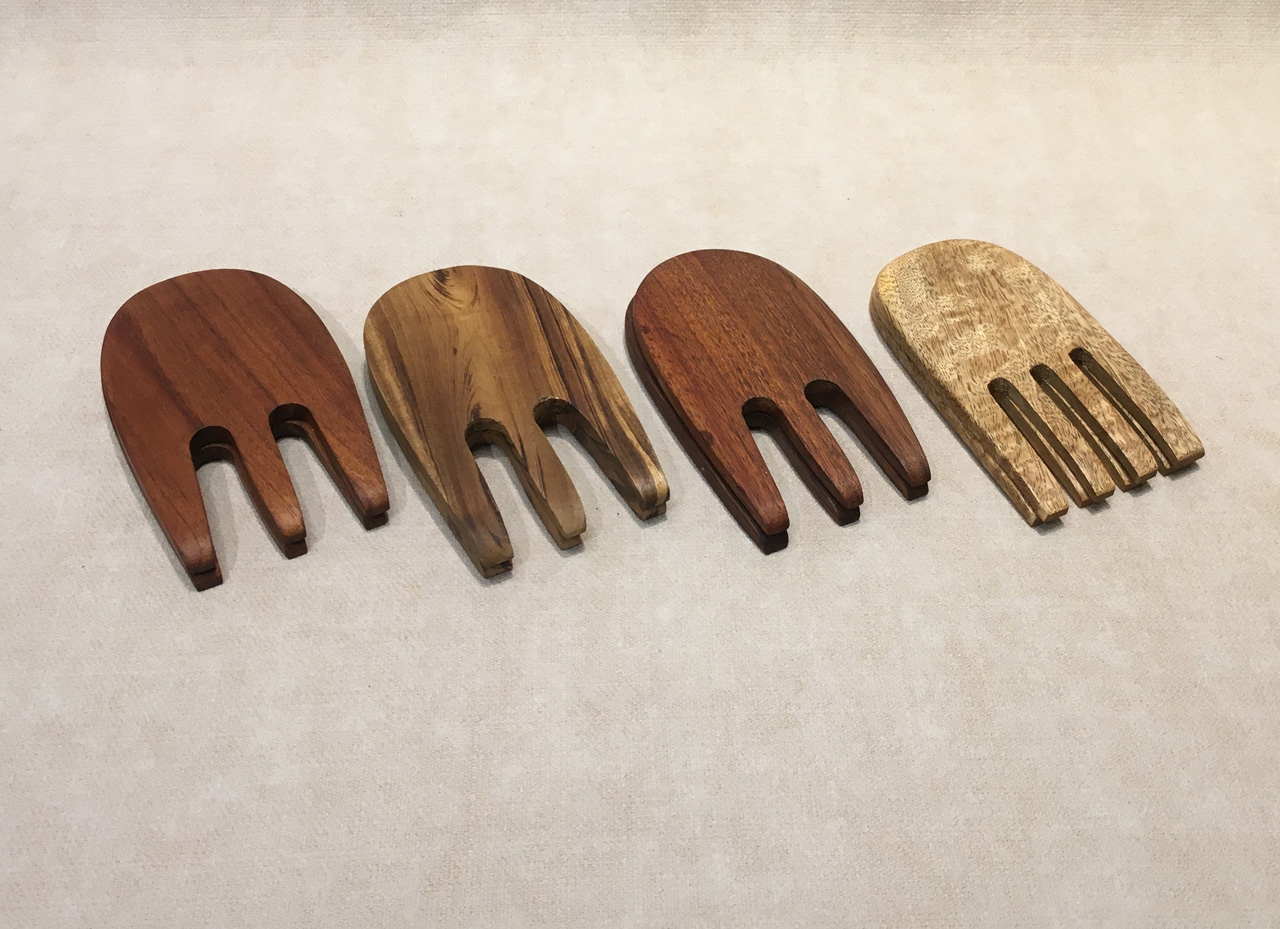 Assorted Wood Salad Hands