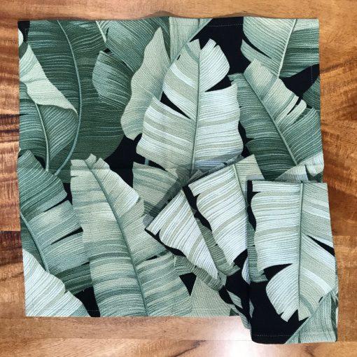 Banana Leaf Set of 4 Napkins by Bonnie Warren - B-N