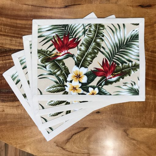 Bird of Paradise Set of 4 Placemats by Bonnie Warren