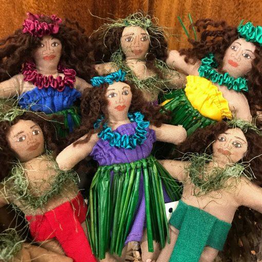 Small Hula Dancer Doll/Ornament by Charlene Asato