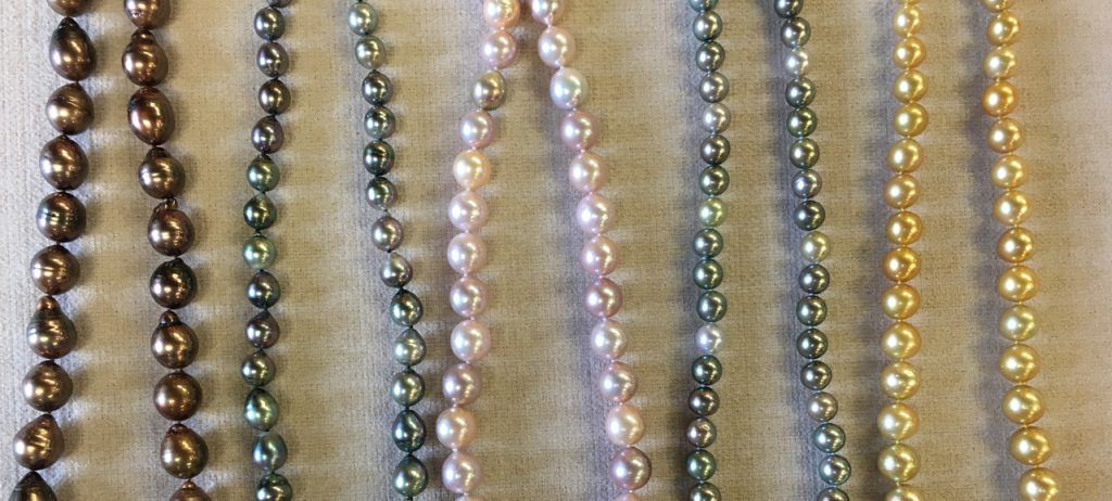 Multiple Pearl Strands in assorted colors
