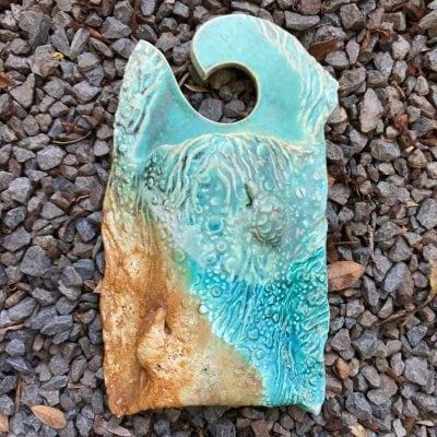 Wall Pocket Vase by Lee Oululani Plevney - Example