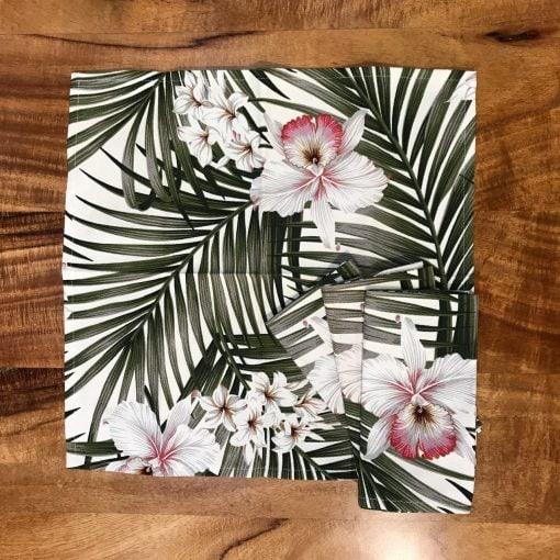 Orchid Palm Set of 4 Napkins by Bonnie Warren - B-N