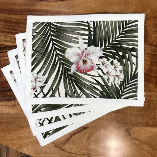 Orchid Palm Set of 4 Placemats by Bonnie Warren