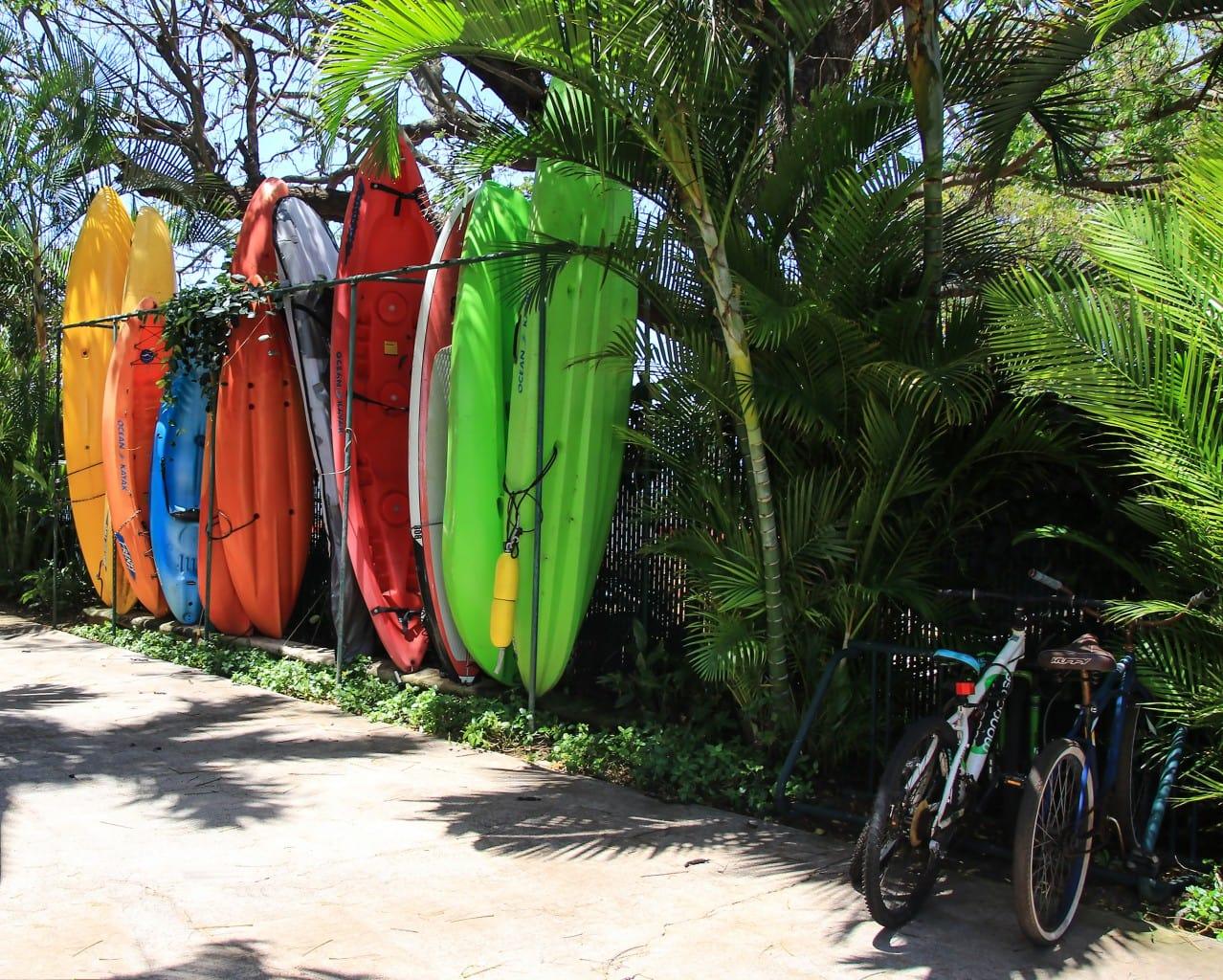 Surf and Bike by Sandra Greenberg bike near surf boards