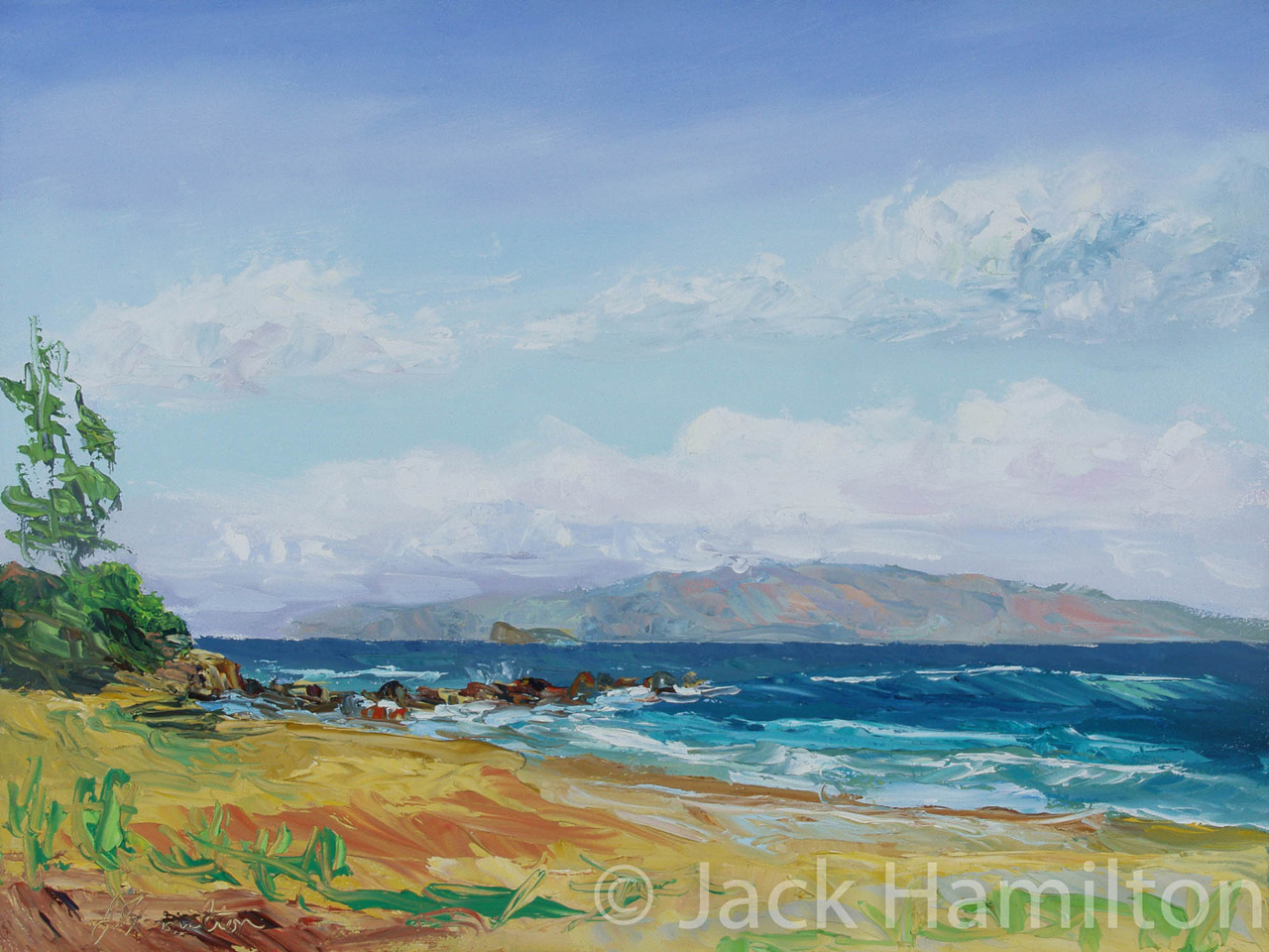 Glorious Kamaole Beach II by Jack Hamilton oil on canvas