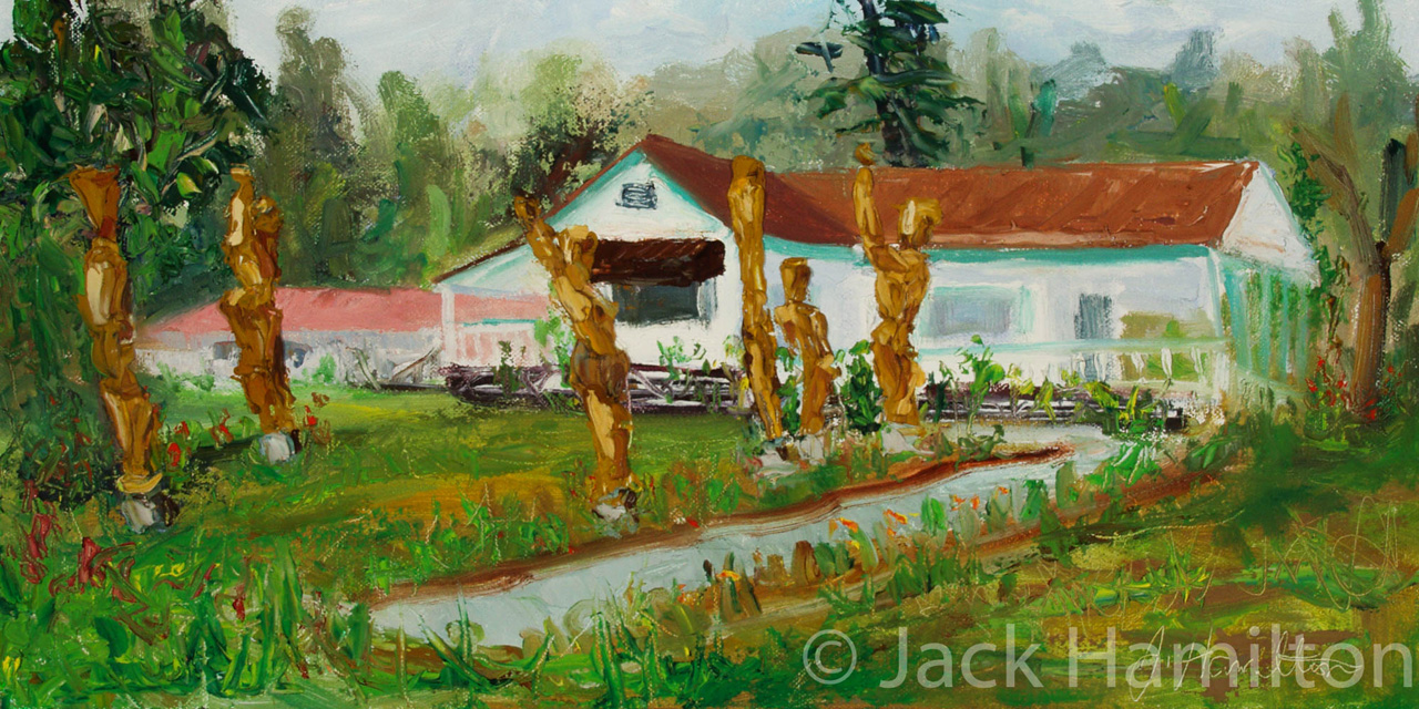 Hula Circle Sculptures by Jack Hamilton oil on canvas