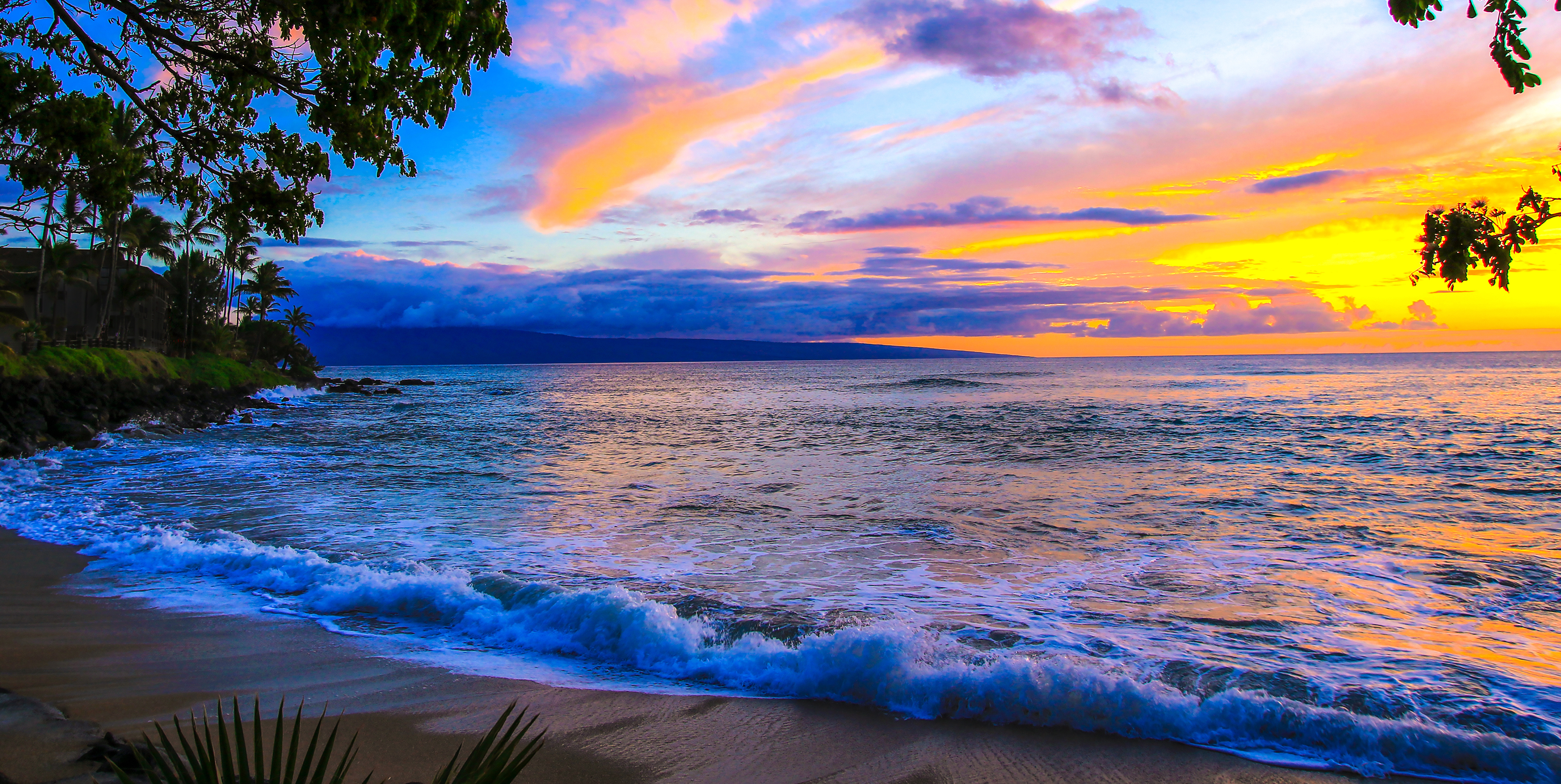 Noelani Kakhana by Sandra Greenberg sunset off beach