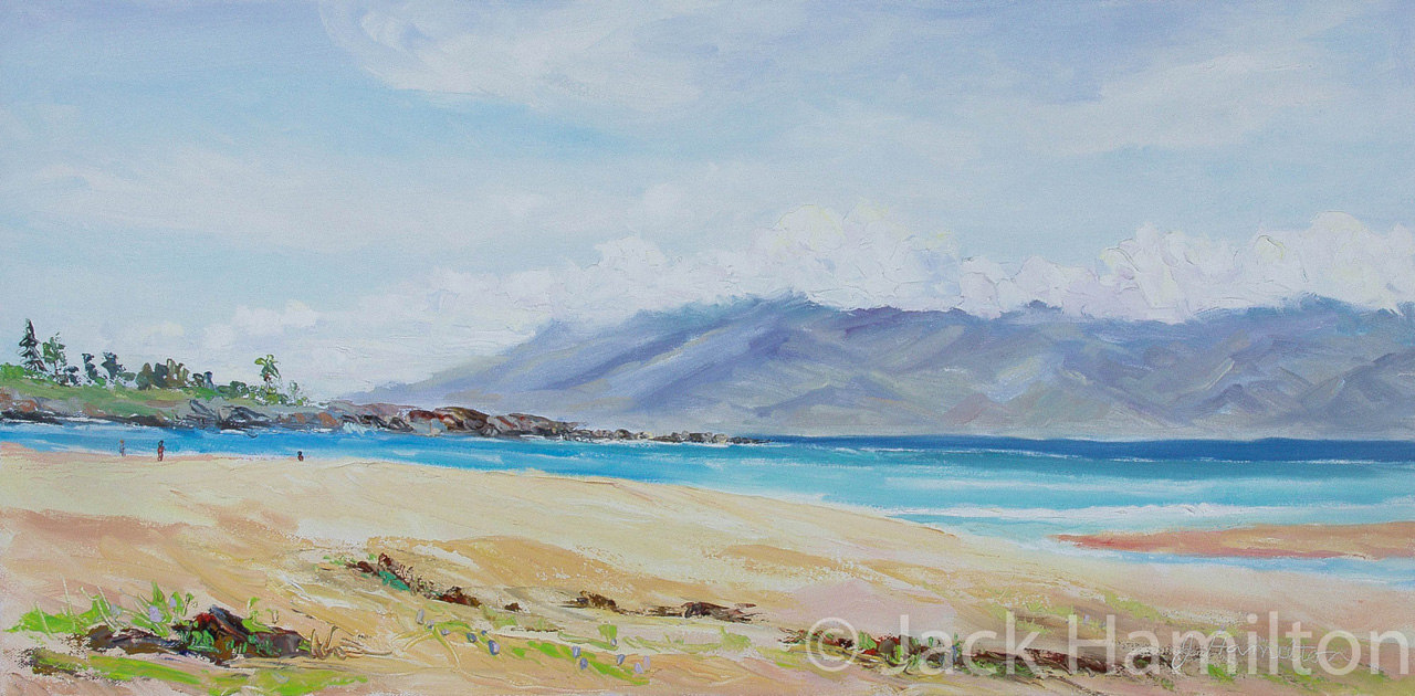 Fleming Beach by Jack Hamilton oil on canvas