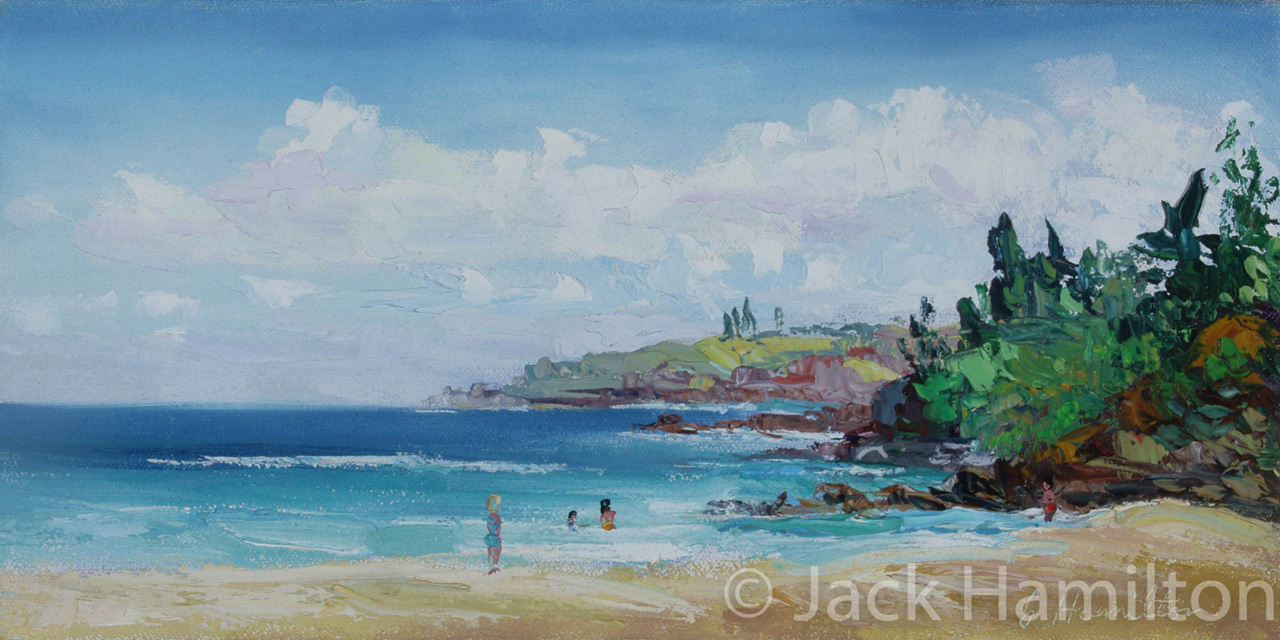 Fleming Beach Day by Jack Hamilton oil on canvas
