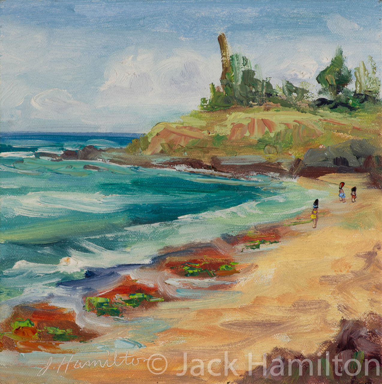 Calm Day At Ho'okipa by Jack Hamilton oil in canvas