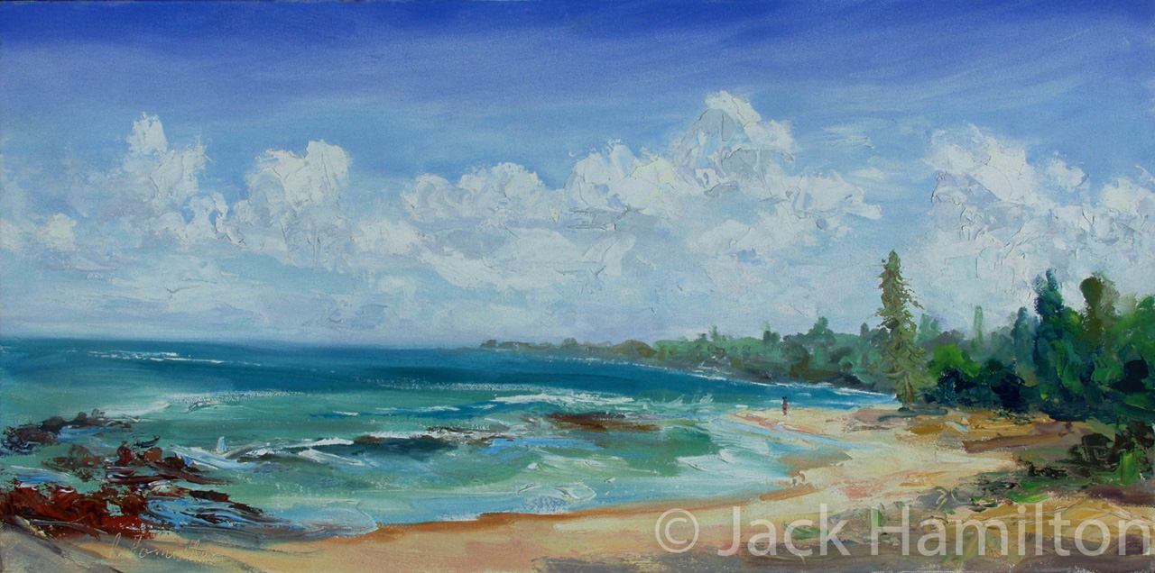 Baby Beach Contemplation by Jack Hamilton oil on canvas