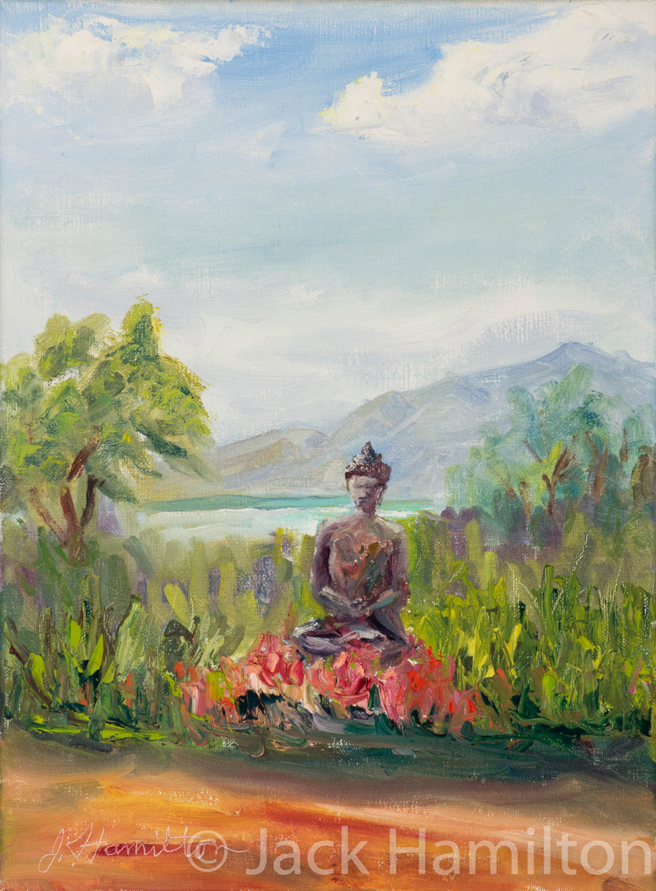 Buddha At Lumeria by Jack Hamilton oil on canvas