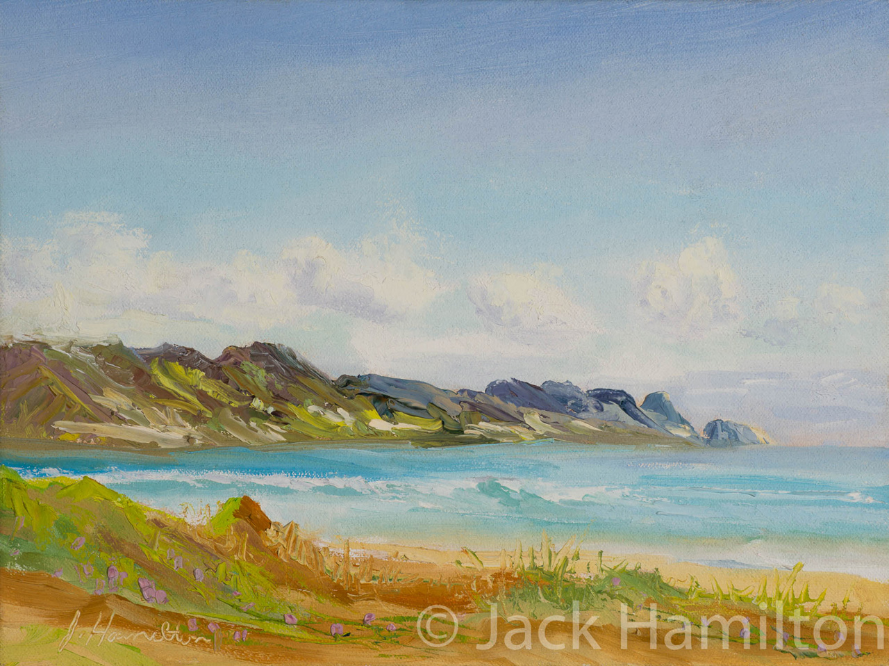 Kanaha Afternoon by Jack Hamilton oil on canvas
