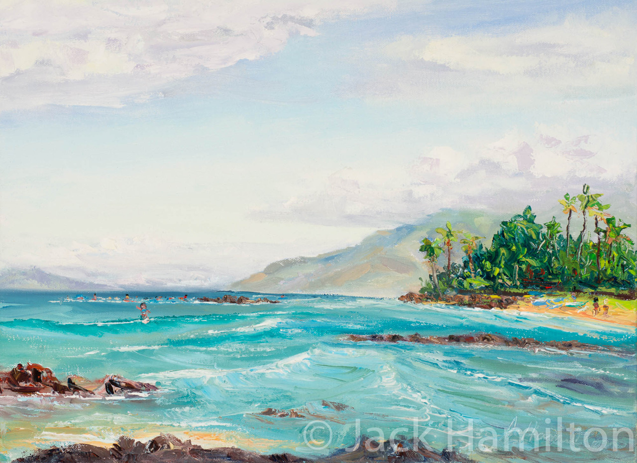 Island Morning by Jack Hamilton oil on canvas