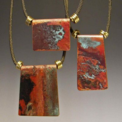 Tide Pools Necklace by Mckenna Hallett group shot of three