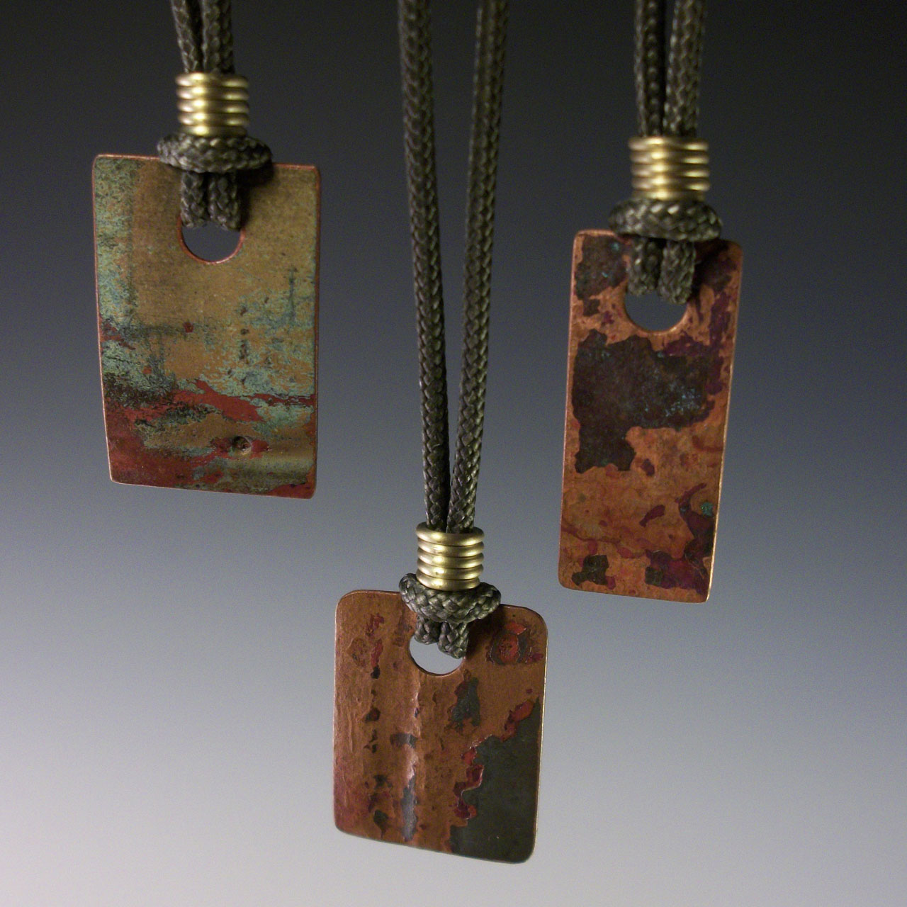 Little Tidepools Necklace by Mckenna Hallett group shot of three